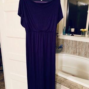 Navy Blue Maxi-Dress size Med
